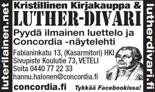 Veteli: Luther-Divari & Kristillinen kirjakauppa